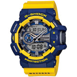 CASIO G-SHOCK BLUE × YELLOW ANALOG-DIGITAL WATCH GA-400-9B