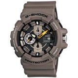 CASIO G-SHOCK GARISH BIG CASE SERIES KHAKI RESIN DIAL WATCH GAC-100-8A
