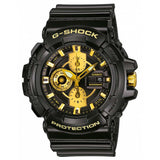 CASIO G-SHOCK GLOSS BLACK RESIN BAND MEN'S WATCH GAC-100BR-1A