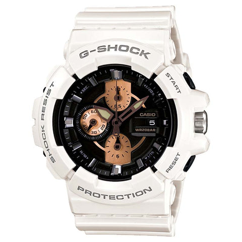 CASIO G-SHOCK GARISH ROSE GOLD SERIES BLACK DIAL WATCH GAC-100RG-7A