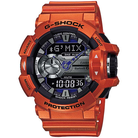 13144706fec CASIO G-SHOCK G MIX APP BLUETOOTH SMART ORANGE WATCH GBA-400-4B – Watchain
