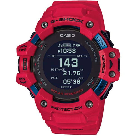 CASIO G-SHOCK G-SQUAD HEART RATE MONITOR AND GPS FUNCTIONALITY SOLAR WATCH GBD-H1000-4