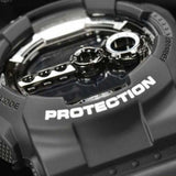 CASIO G-SHOCK LARGE BLACK GARISH MIRRORED DIGITAL WATCH GD-100BW-1D