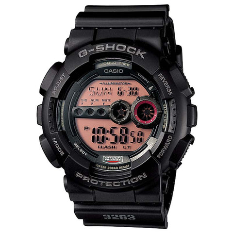 CASIO G-SHOCK SUPER ILLUMINATOR MILITARY BLACK WATCH GD-100MS-1D