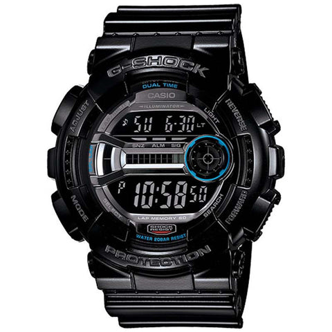 CASIO G-SHOCK LAP MEMORY 60 ILLUMINATOR GLOSSY WATCH GD-110-1D