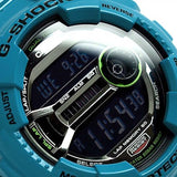 CASIO G-SHOCK LAP MEMORY 60 GLOSSY BLUE RESIN WATCH GD-110-2D