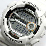 CASIO G-SHOCK BIG CASE 60 LAP MEMORY WHITE RESIN WATCH GD-110-7D