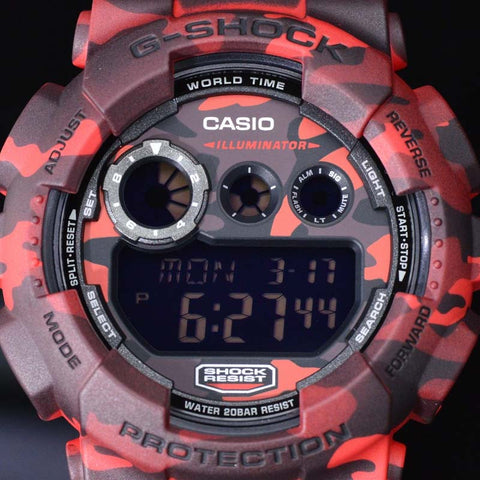74aac5929920f ... CASIO G-SHOCK RED CAMOUFLAGE PATTERNS DIGITAL WATCH GD-120CM-4 ...