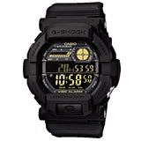 CASIO G-SHOCK BLACK VIBRATION ALARM SUPER ILLUMINATOR WATCH GD-350-1B