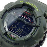 CASIO G-SHOCK G-LIDE SERIES MILITARY GREEN NYLON BAND WATCH GLS-100-3D
