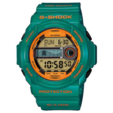 CASIO G-SHOCK G-LIDE TIDE GRAPH MOON WATCH GLX-150B-3D
