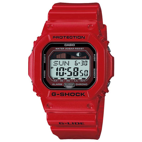 CASIO G-SHOCK RED G-LIDE SERIES SPORT WATCH GLX-5600-4D