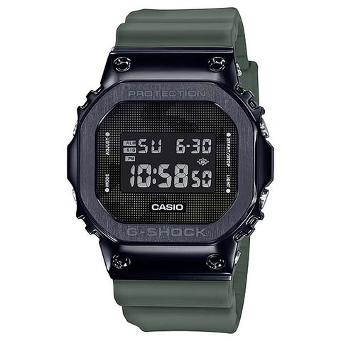 CASIO G-SHOCK BLACK PVD STEEL RESIN STRAP DUGITAL WATCH GM-5600B-3