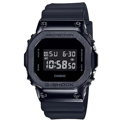 CASIO G-SHOCK BLACK PVD STEEL COVER RESIN STRAP DUGITAL WATCH GM-5600B-1