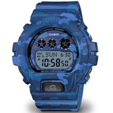 CASIO G-SHOCK BLUE CAMOUFLAGE PATTERNS WOMEN'S WATCH GMDS6900CF-2