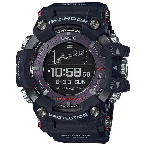 CASIO G-SHOCK RANGEMAN SOLAR ASSIST GPS NAVIGATION WATCH GPR-B1000-1D