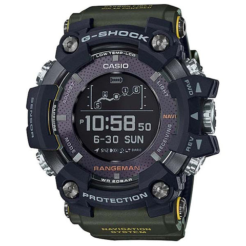 CASIO G-SHOCK RANGEMAN SOLAR ASSIST GPS NAVIGATION WATCH GPR-B1000-1B