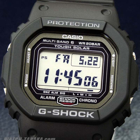 promo code d3476 0ba5e CASIO G-SHOCK MULTI BAND 6 SOLAR BLACK DIGITAL WATCH GW-5000-1A