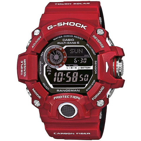CASIO G-SHOCK RANGEMAN RED MEN IN RESCUE SOLAR WATCH GW-9400RD-4