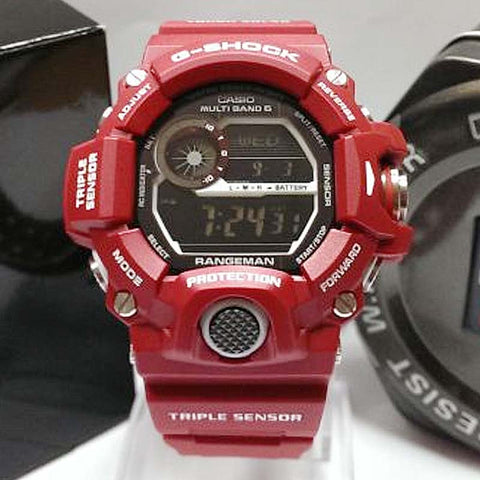 best cheap 4401c 1e5c0 CASIO G-SHOCK RANGEMAN RED MEN IN RESCUE SOLAR WATCH GW-9400RD-4