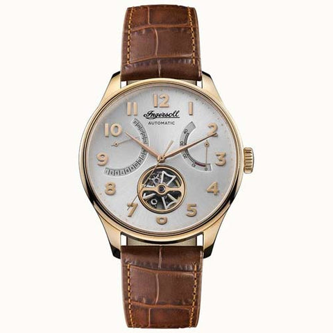 INGERSOLL MEN'S THE HAWLEY AUTOMATIC LEATHER WRIST WATCH I04603