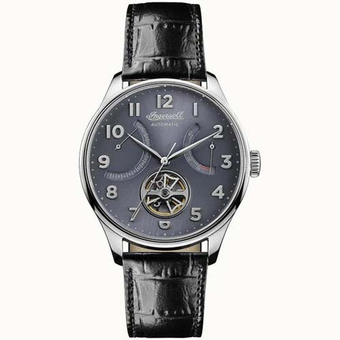 INGERSOLL MEN'S THE HAWLEY AUTOMATIC LEATHER WRIST WATCH I04604
