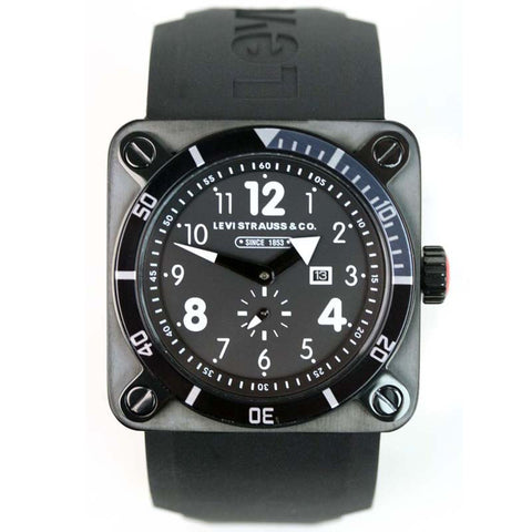 LEVIS CLASSIC DATE RUBBER WATCH LTD0903