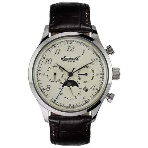 INGERSOLL UNION ANALOG DISPLAY AUTOMATIC LEATHER WATCH IN1203CH-T
