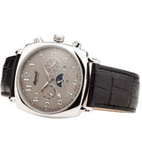 INGERSOLL MEN'S SUN MOON AUTOMATIC BLACK LEATHER WRIST WATCH IN1211SL-T