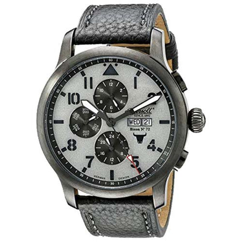INGERSOLL MEN'S GUGY AUTOMATIC BLACK LEATHER WATCH IN1221GUGY-BH