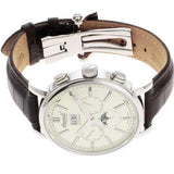 INGERSOLL MEN'S LEATHER STRAP BROWN AUTOMATIC WATCH IN1402CR-S