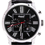 INGERSOLL MEN'S BLACK LEATHER STRAP AUTOMATIC WATCH IN1409BK
