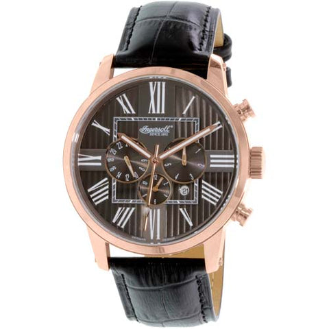 INGERSOLL PAINTE MEN'S BLACK LEATHER STRAP AUTOMATIC WATCH IN1409RBK