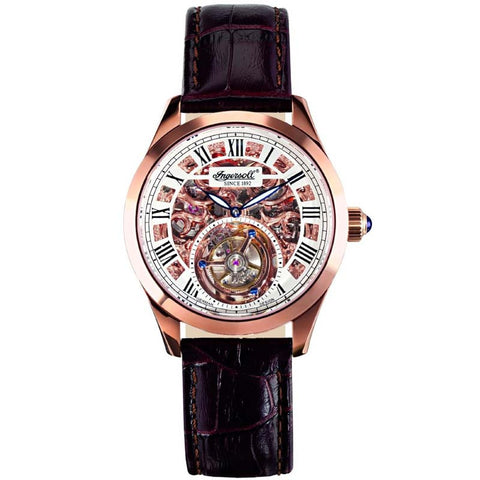 INGERSOLL GOLDEN SPIKE TOURBILLON MECHANICAL WATCH IN5102SRG-XH