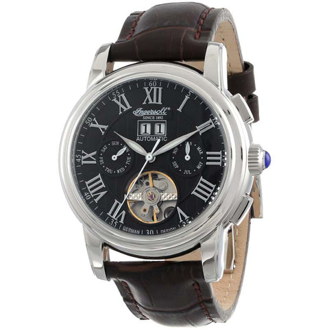 INGERSOLL SINCE 1892 DOUGLAS AUTOMATIC LEATHER WATCH IN8012BK-S