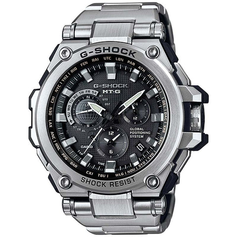 100c9671052 CASIO G-SHOCK MRG GPS TOUGH SOLAR STAINLESS STEEL WATCH MTG-G1000D-1A –  Watchain