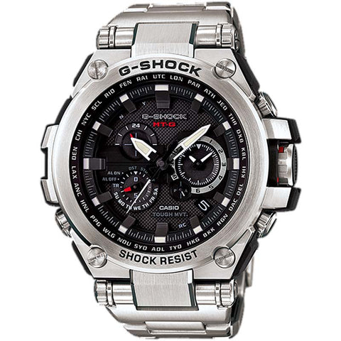 CASIO G-SHOCK TRIPLE G RESIST SOLAR STAINLESS STEEL WATCH MTG-S1000D-1A