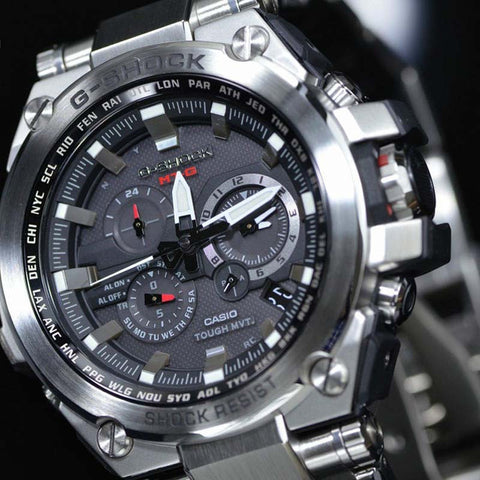 ... CASIO G-SHOCK TRIPLE G RESIST SOLAR STAINLESS STEEL WATCH MTG-S1000D-1A  ... 8318dd2e6030