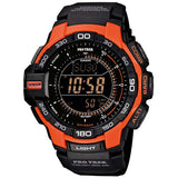 CASIO PROTREK COMPASS ORANGE SOLAR POWERED WATCH PRG-270-4D