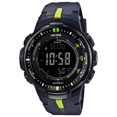 CASIO PROTREK COMPASS MULTIBAND 6 SOLAR DIGITAL WATCH PRW-3000-2D