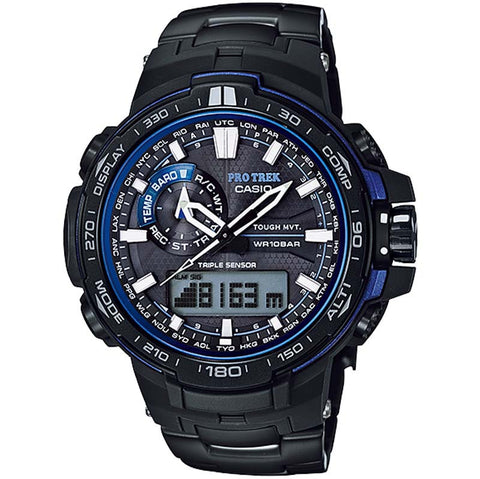 CASIO PROTREK COMPASS MULTIBAND6 SOLAR TITANIUM BAND WATCH PRW-6000YT-1B