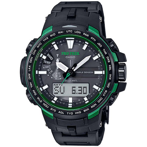 CASIO PROTREK COMPASS MULTIBAND6 SOLAR TITANIUM BAND WATCH PRW-6100FC-1A