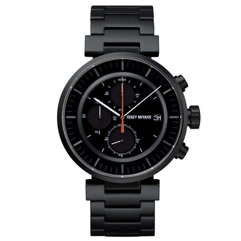 ISSEY MIYAKE W SERIES BLACK STAINLESS STEEL WATCH SILAY002