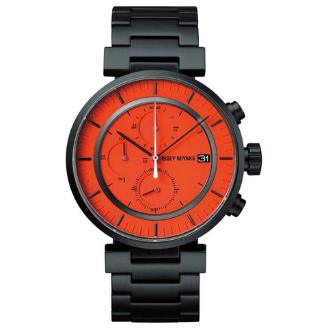 ISSEY MIYAKE W SERIES BLACK STAINLESS STEEL WATCH SILAY005