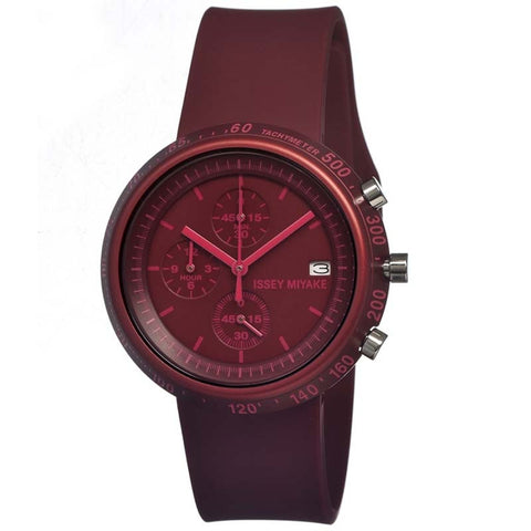 ISSEY MIYAKE TRAPEZOID RED POLYURETHANE WATCH SILAZ007