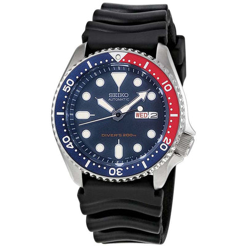 SEIKO DIVER'S 200M AUTOMATIC BLACK BUBBER STRAP WATCH SKX009K1