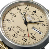 SEIKO 5 MEN'S AUTOMATIC BEIGE CANVAS STRAP WATCH SNK803K2