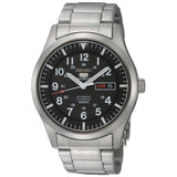 SEIKO MILITARY AUTOMATIC BLACK DIAL STAINLESS STEEL WATCH SNZG13K1