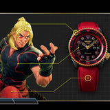 SEIKO 5 SPORTS x STREET FIGHTER V KEN MODEL LIMITED EDITION WATCH SRPF20K1