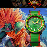 SEIKO 5 SPORTS x STREET FIGHTER V BLANKA MODEL LIMITED EDITION WATCH SRPF23K1